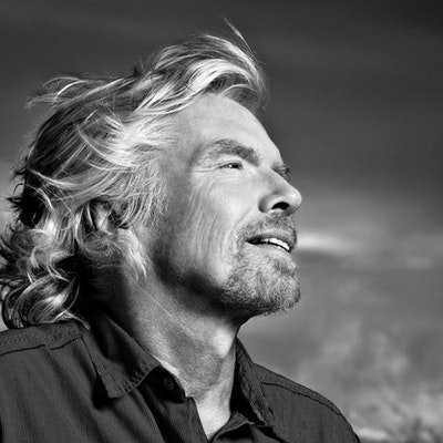 portrait photo of Richard Branson