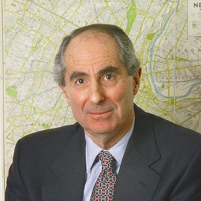 portrait photo of Philip Roth