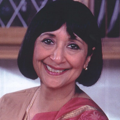 portrait photo of Madhur Jaffrey
