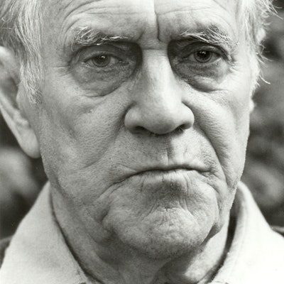 portrait photo of Patrick White