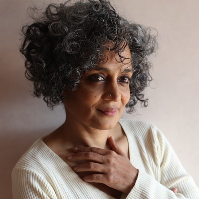 portrait photo of Arundhati Roy